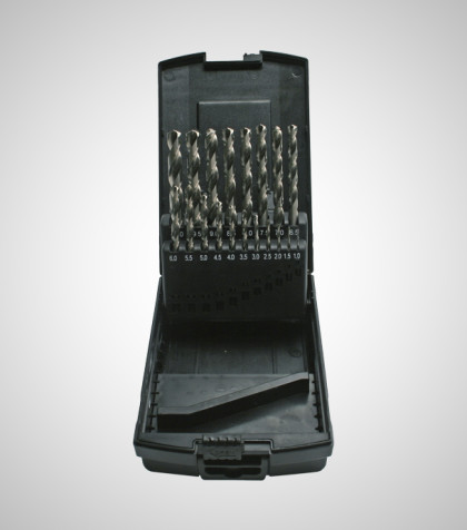 HSS-G Drill Set 1-10 mm (19 delar/parts)