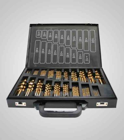 HSS-G TiN Drill Set 1-10 mm (170 st delar/parts)