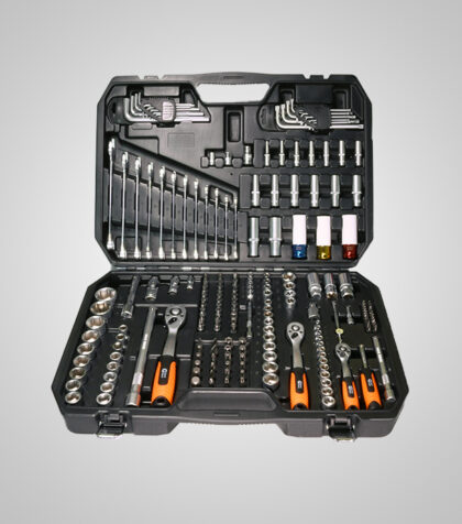 "1/4"", 3/8"" & 1/2"" Dr. Socket Set 176 pcs"