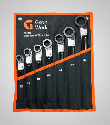 Open Ratchet Wrench Set